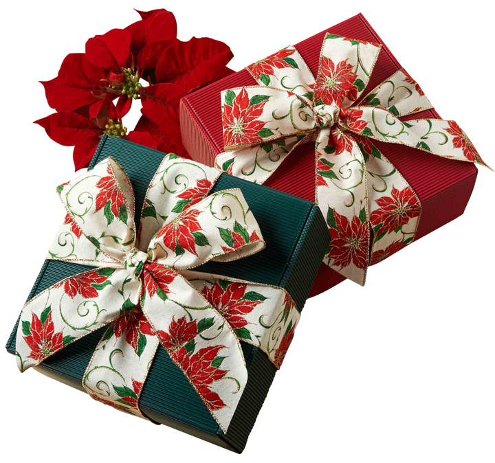 Poinsettia Holiday Cookie Gift Box
