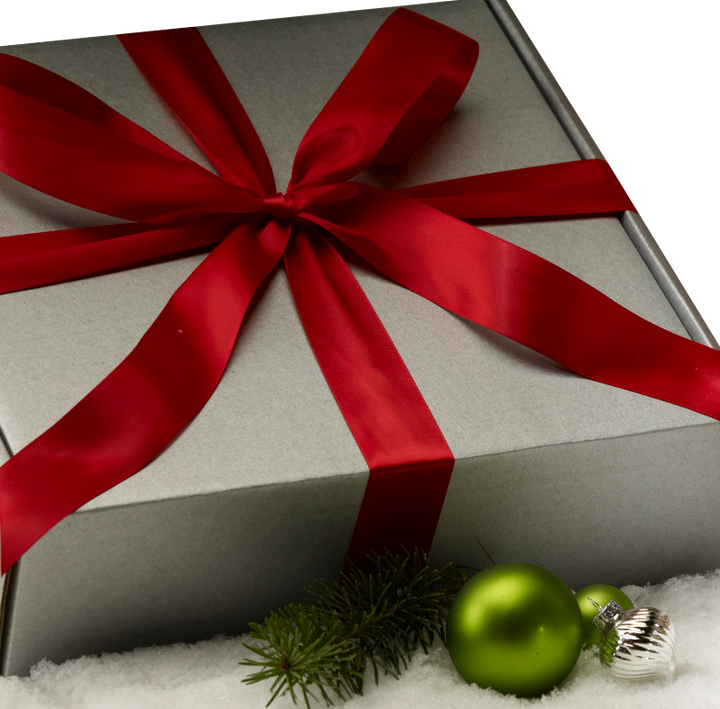 Sterling Silver Holiday Gift Box