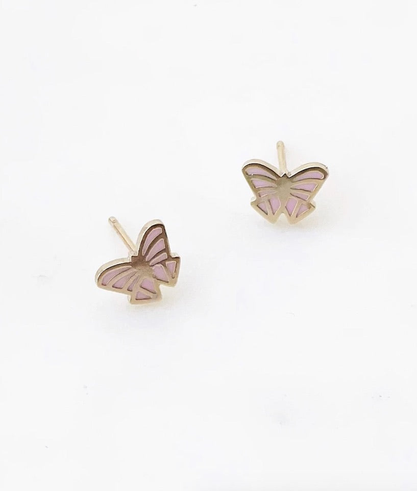 Abstract Butterfly Studs