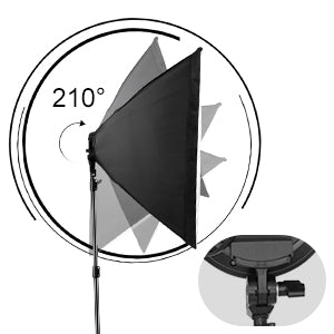 Simpex PRO HD LITE 5 Soft LED Video Light Softbox Kit (2) with AC Power, Light Stand, Carry Bags for YouTube Videography, Photography