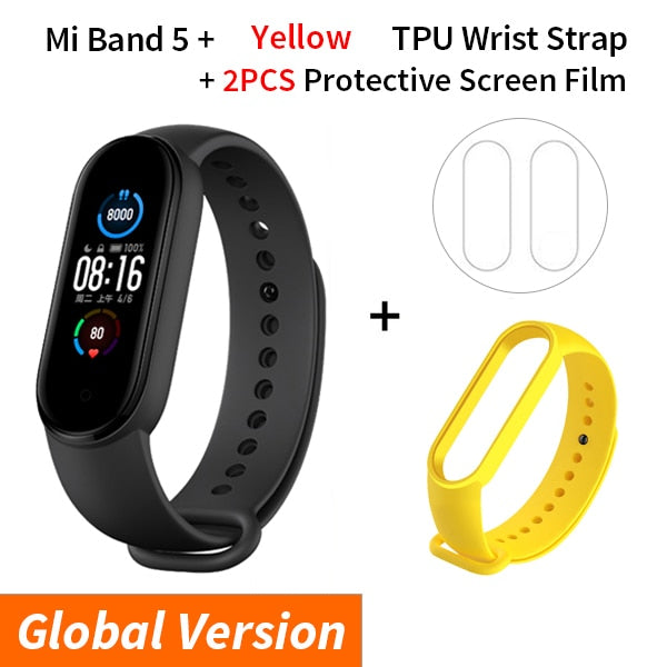 Relógio Xiaomi mi Band 5, Pulseira Inteligente, Amoled Touch Screen
