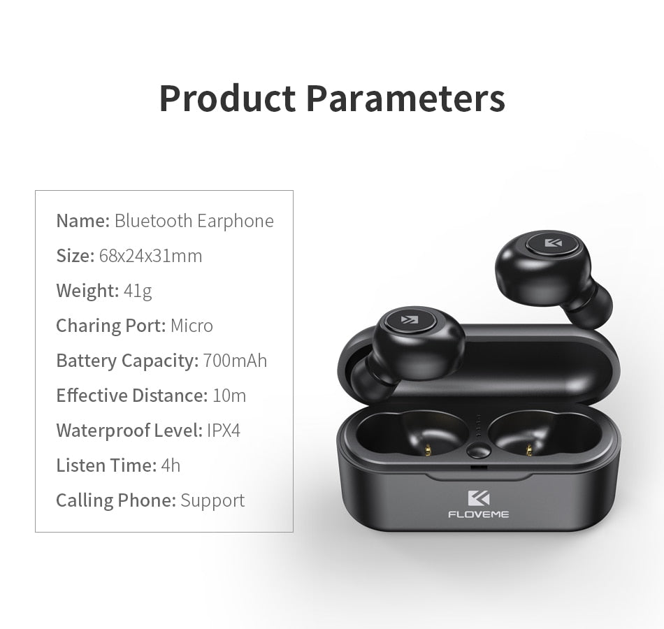 SmartWatch Me Now 🎧 TWS 5.0 Wireless Headset Bluetooth Earphone