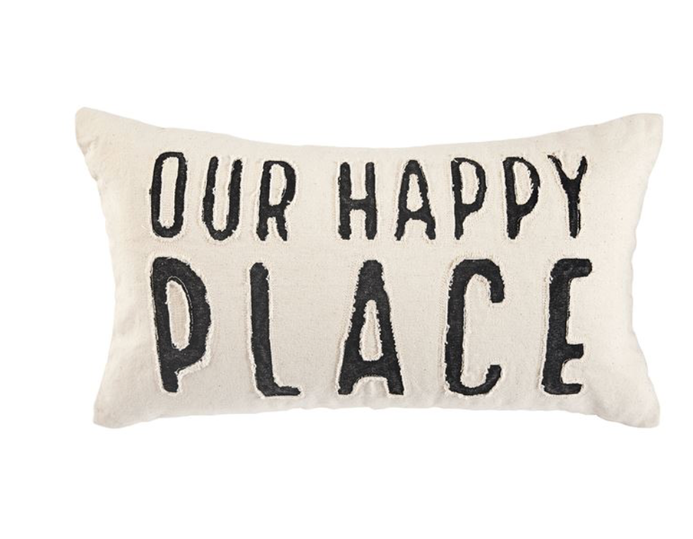OURVHAPPY PLACE CANVAS PILLOW