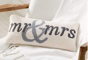 MR & MRS HOOKED PILLOW