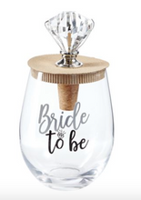 Load image into Gallery viewer, WEDDING BLING WINE GLASS TOPPER SETS