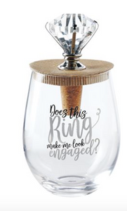 WEDDING BLING WINE GLASS TOPPER SETS