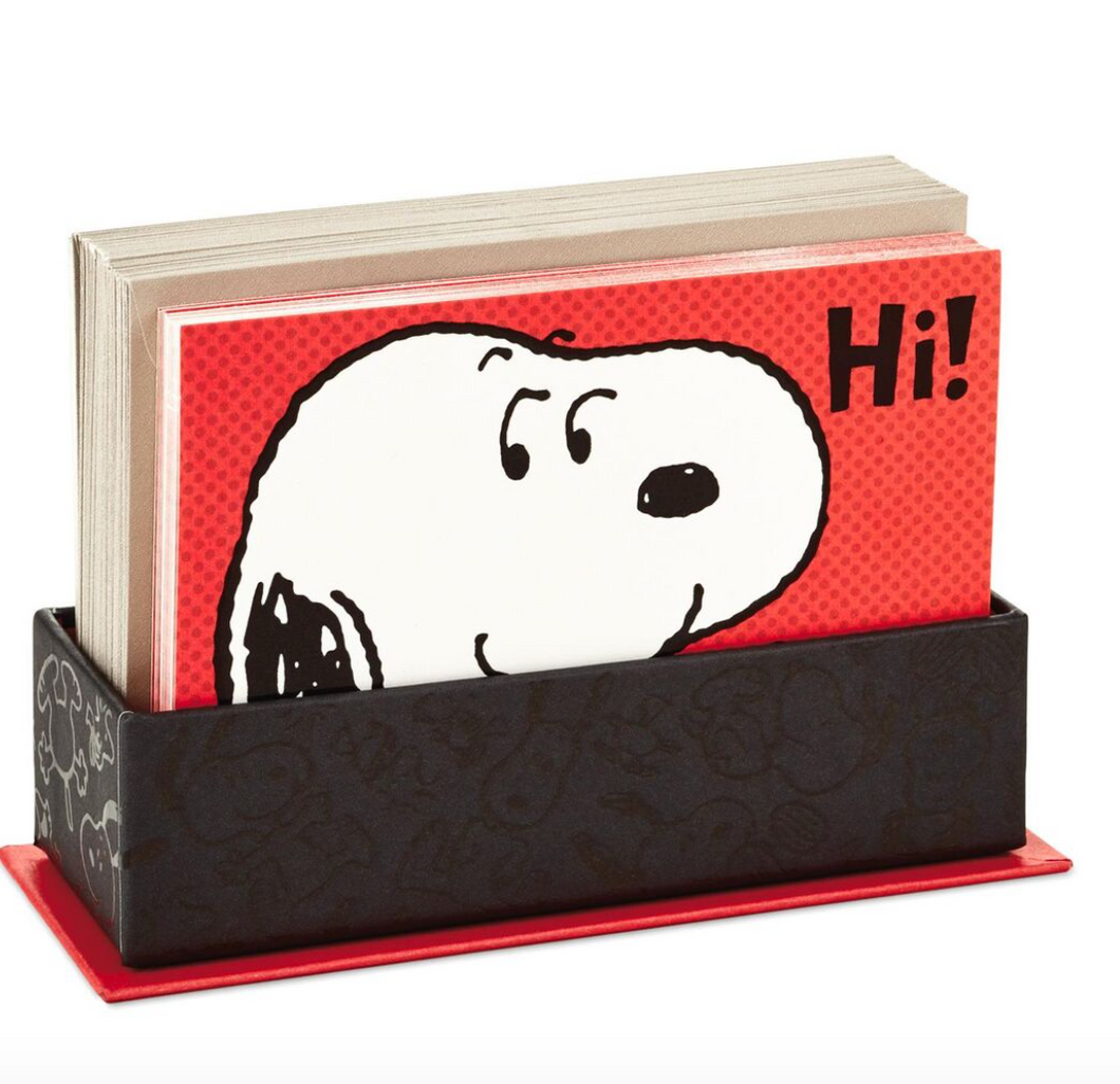 PEANUTS SNOOPY ASST BLANK NOTE CARDS