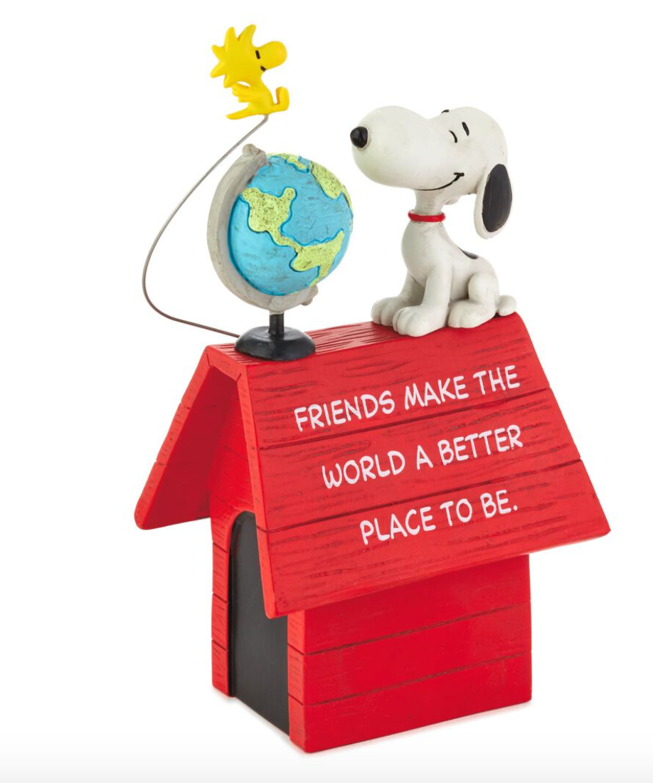 PEANUTS SNOOPY & WOODSTOCK FRIENDS MAKE THE WORLD BETTER FIGURINE