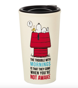 PEANUTS SNOOPY NOT AWAKE TRAVEL MUG 10OZ