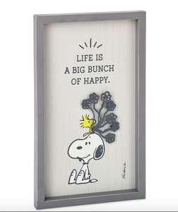 "PEANUTS SNOOPY & WOODSTOCK ""BUNCH OF HAPPY"" WALL ART"