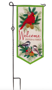 WINTER BIRDS WELCOME EVERLASTING IMPRESSIONS TEXTILE DECOR