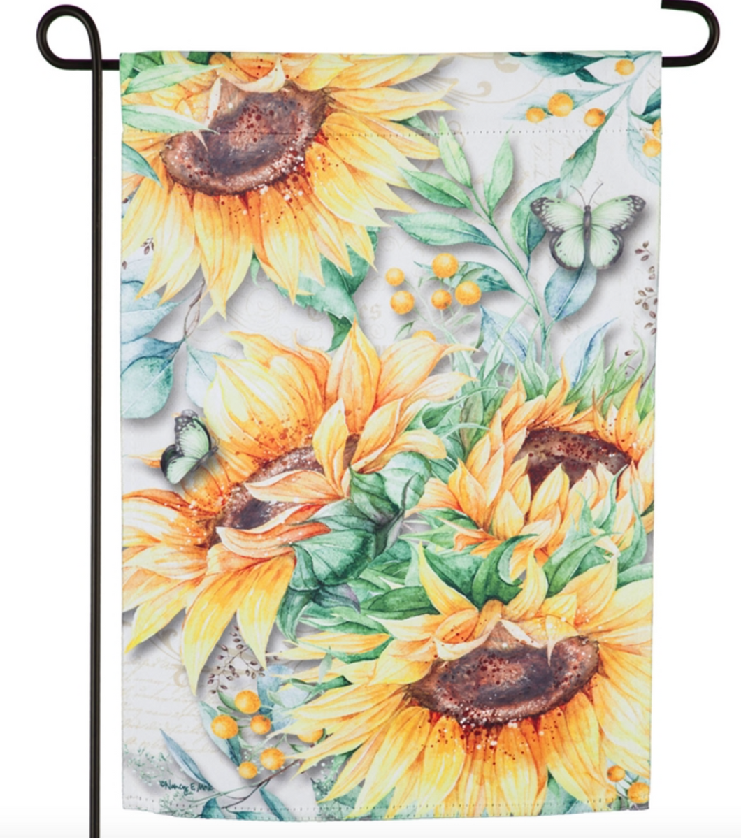 SUNFLOWER FIELDS GARDEN SUEDE FLAG