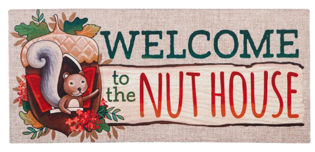 WELCOME TO THE NUT HOUSE SASSAFRAS SWITCH MAT