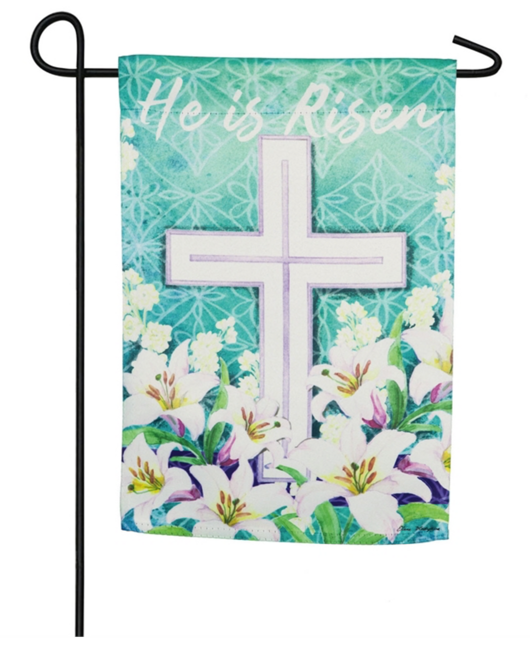EASTER CROSS GARDEN SUEDE FLAG