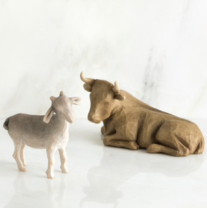 OX AND GOAT (SET OF 2)