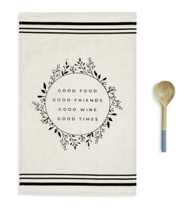 GOOD FOOD KITCHEN TOWEL & UTENSIL SET