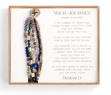 Load image into Gallery viewer, BEADED PRAYER BRACELET-INDIGO