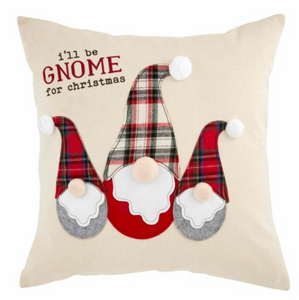 SQUARE GNOME APPLIQUE PILLOW