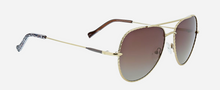 Load image into Gallery viewer, VB JOSIE: MAHOGANY MEDALLION SUN SPECS