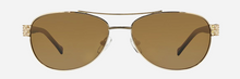 Load image into Gallery viewer, VB MARLENE: MAHOGANY MEDALLION SUN SPECS