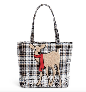 COZY PLAID NEUTRAL VERA TOTE BAG