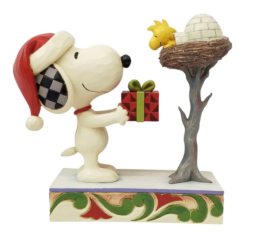 JIM SHORE SNOOPY AND WOODSTOCK CHRISTMAS