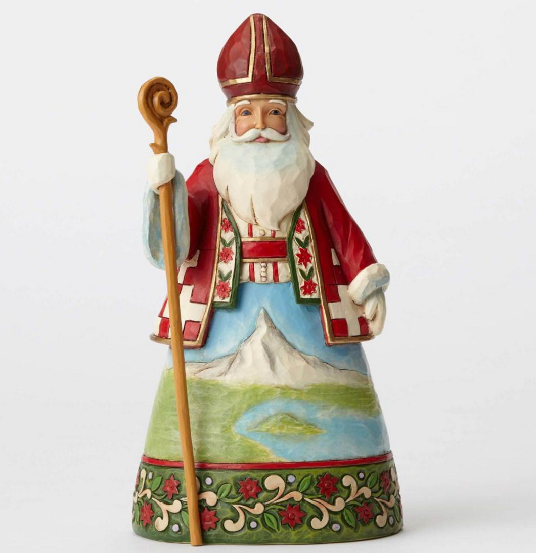 JIM SHORE SWISS SANTA FIGURINE