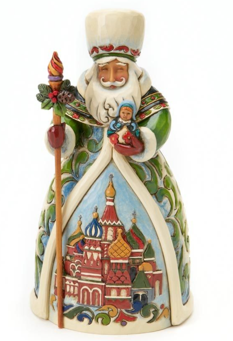 JIM SHORE RUSSIAN SANTA FIGURINE