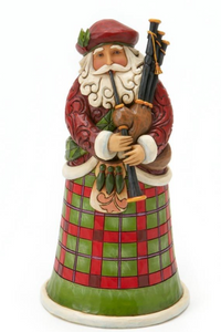 JIM SHORE SCOTTISH SANTA FIGURINE