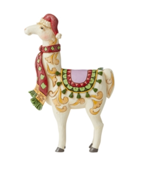 JIM SHORE LLAMA WITH SCARF FIGURINE