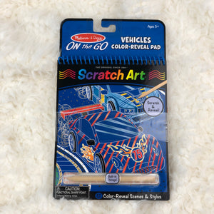 MELISSA & DOUG SCRATCH ART VEHICLES