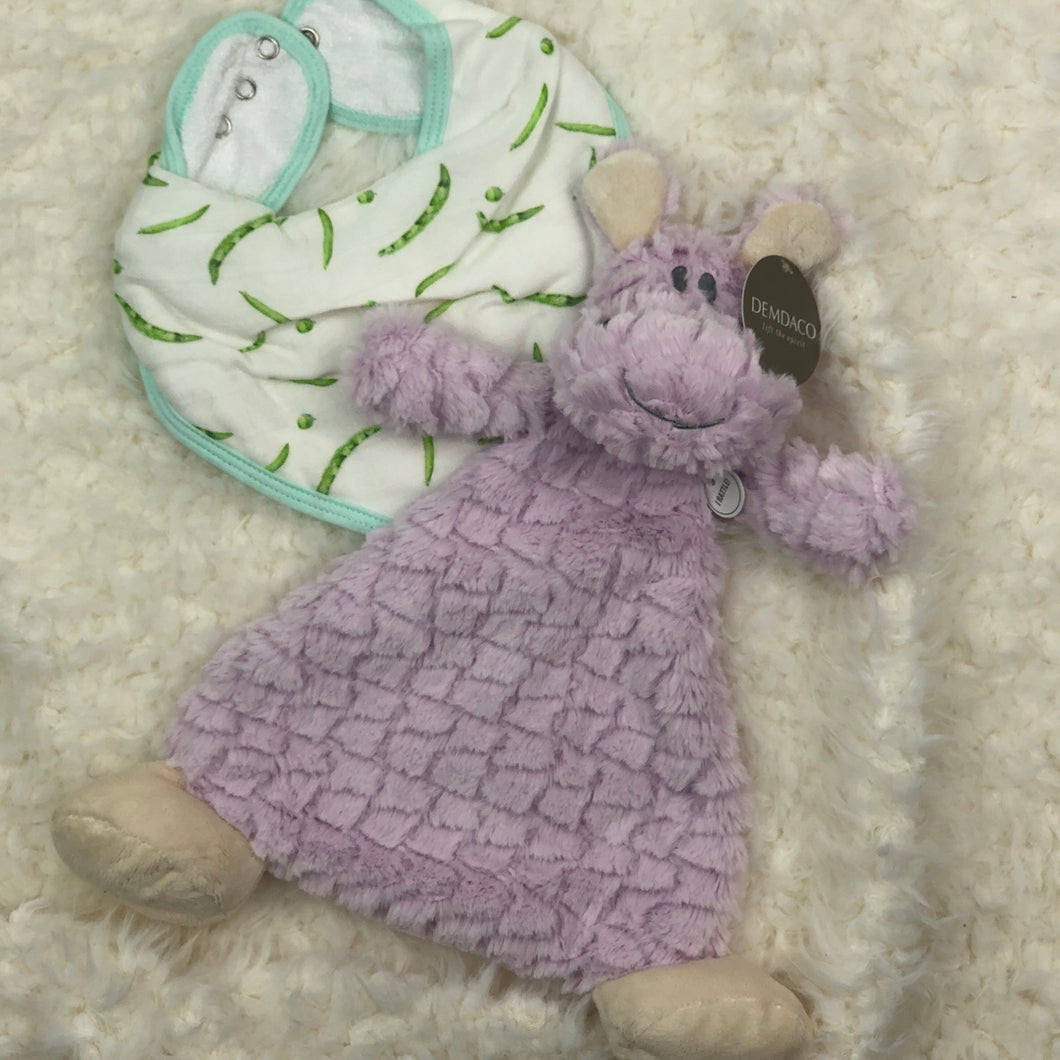 RATTLE BLANKIE HARLOW HIPPO