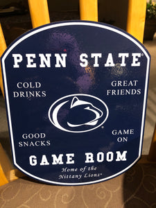 """PENN STATE GAME ROOM"" SIGN"