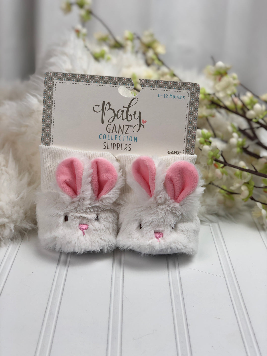 PLUSH BUNNY BABY SLIPPERS