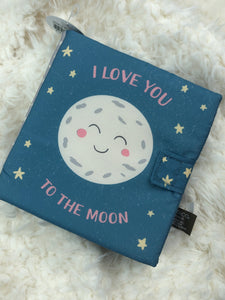 "FABRIC BOOK ""I LOVE YOU TO THE MOON"""