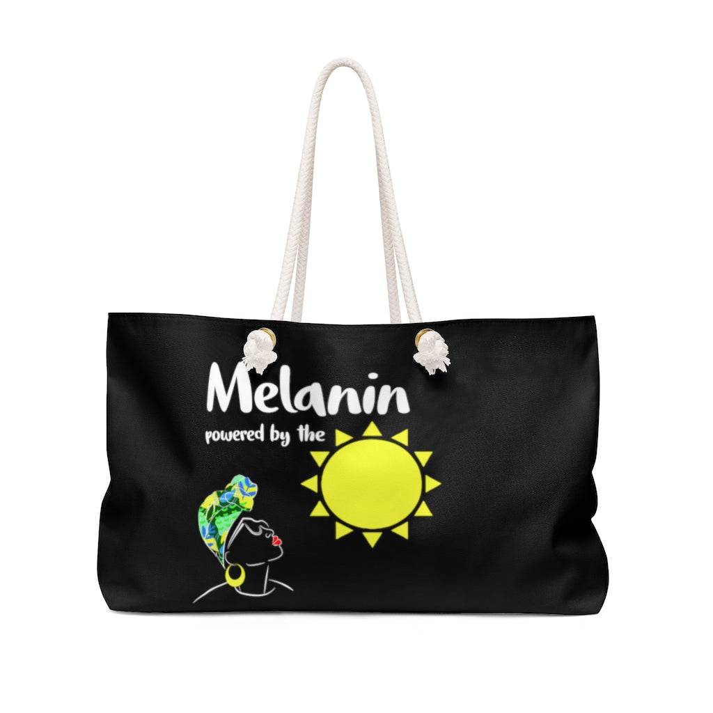 Melanin Powered By The Sun Weekender Bag - Black Love Boutique