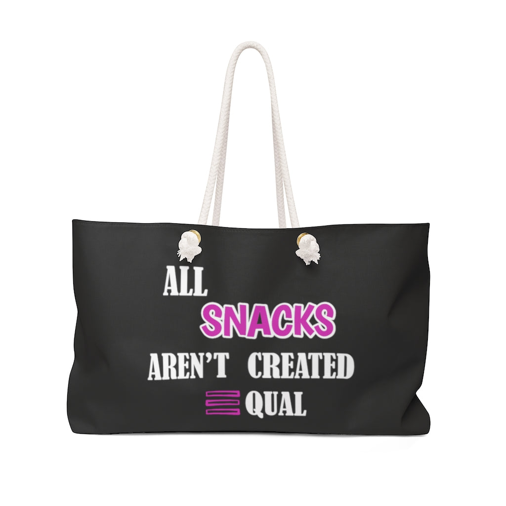 Limited Edition Snacks Weekender Bag - Black Love Boutique