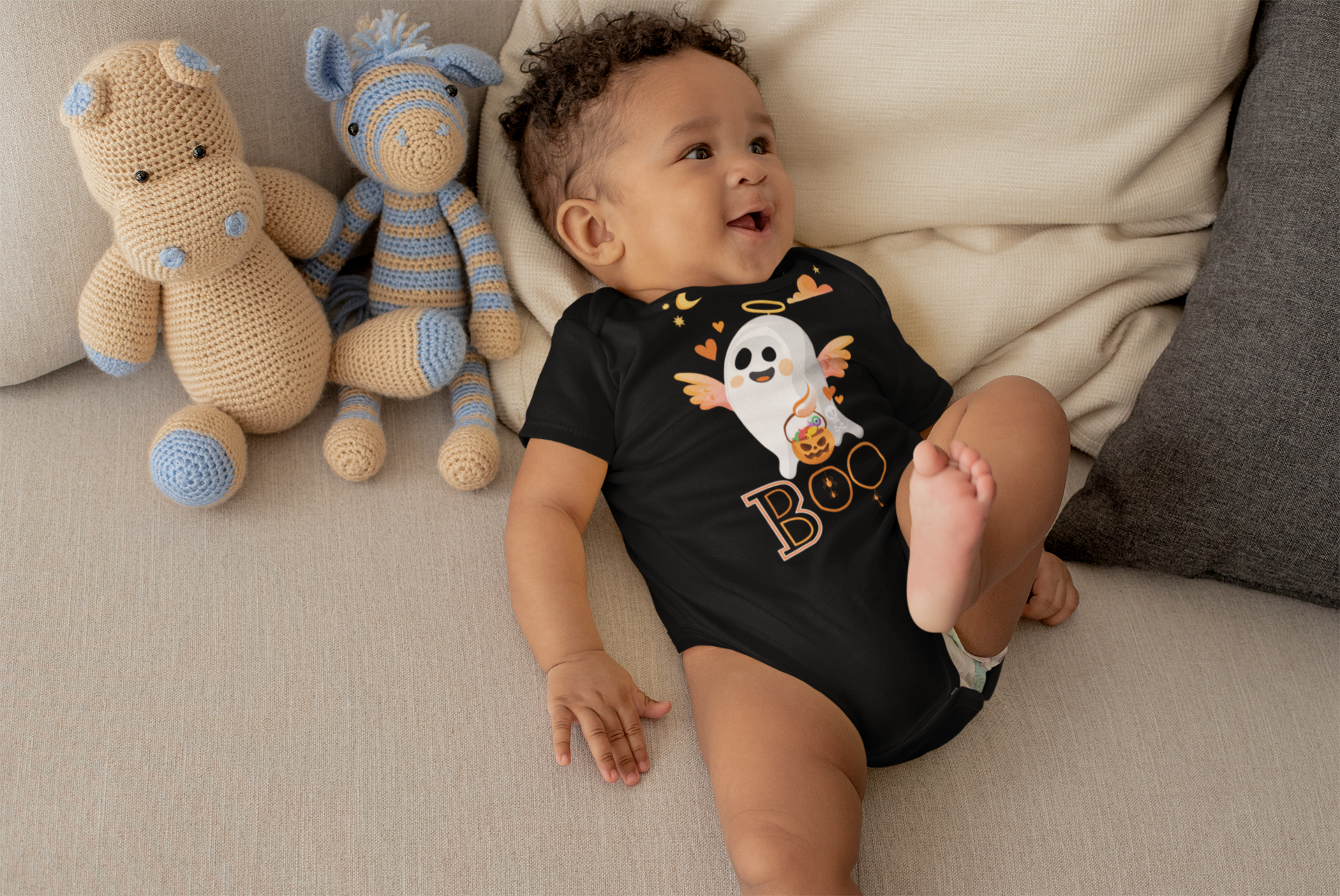 Limited Edition Boo Onesie - Black Love Boutique