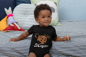 Limited Edition Cookie Monster Onesie - Black Love Boutique