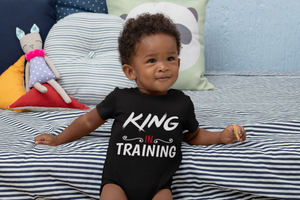Limited Edition King In Training Onesie - Black Love Boutique
