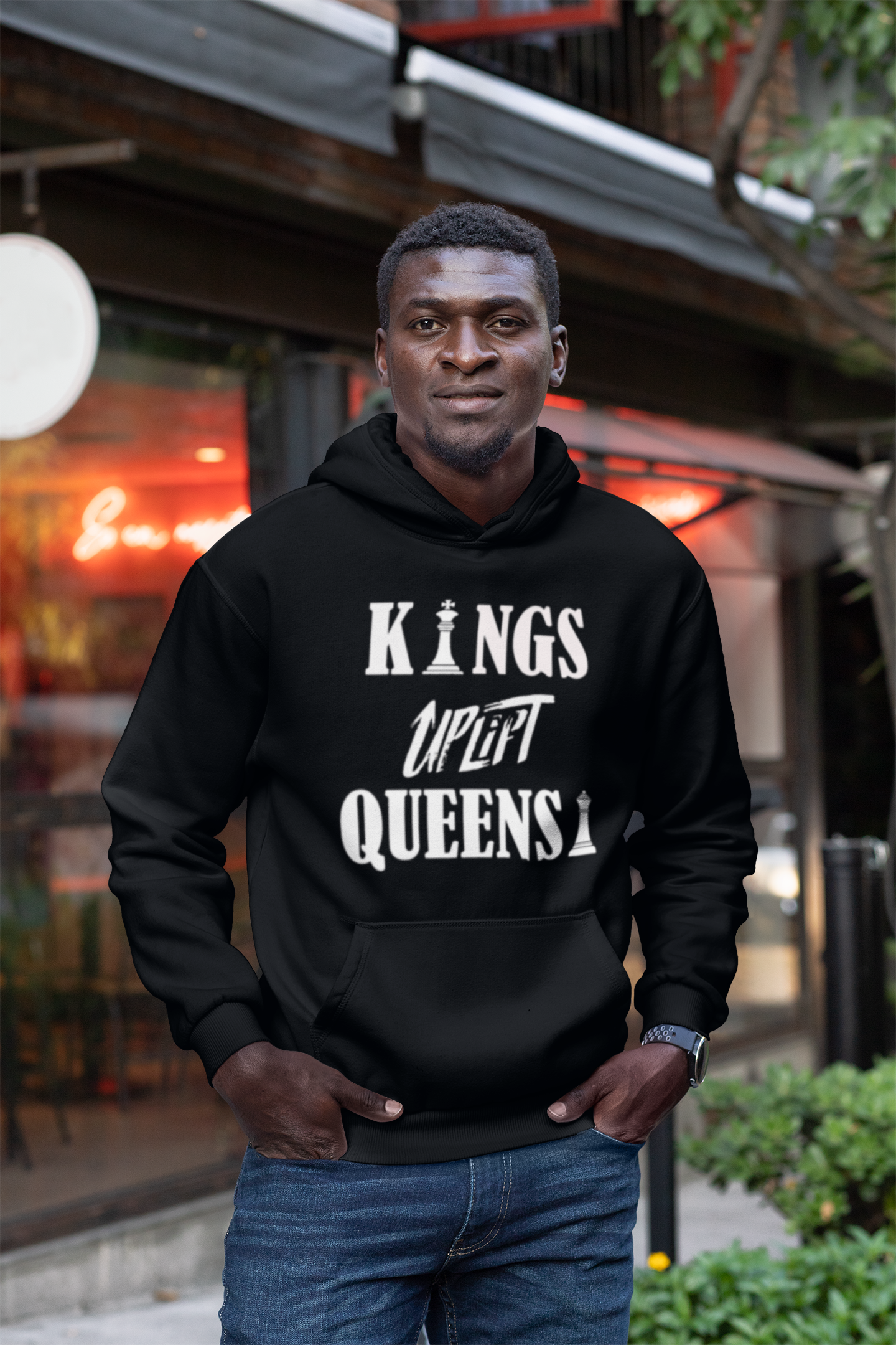 Limited Edition Kings Uplift Queens Hoodie - Black Love Boutique
