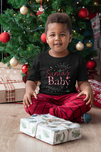 Limited Edition Santa's Baby Toddler Tee - Black Love Boutique