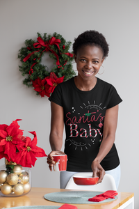 Limited Edition Santa's Baby T-Shirt - Black Love Boutique