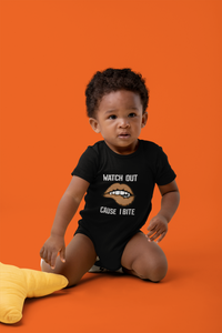Limited Edition Watch Out Cause I Bite Onesie - Black Love Boutique