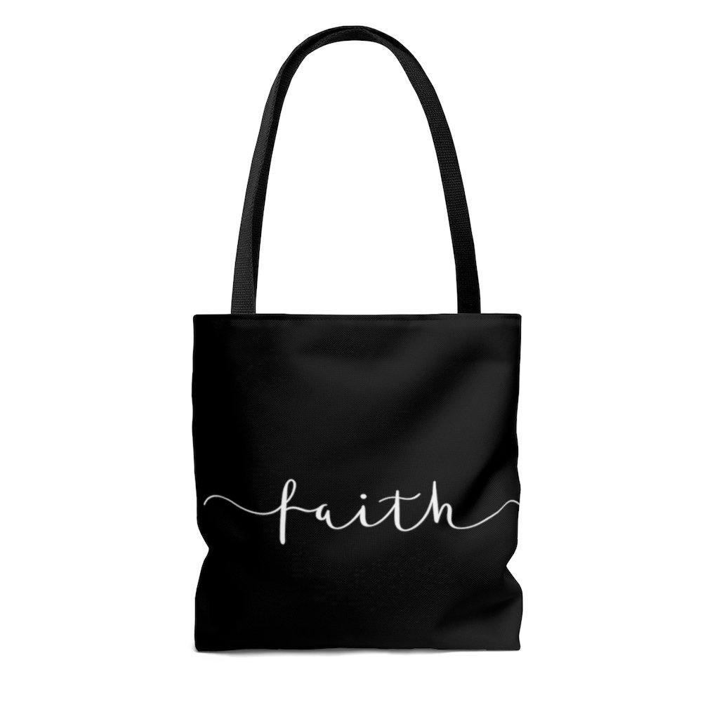 Limited Edition Faith Tote Bag - Black Love Boutique