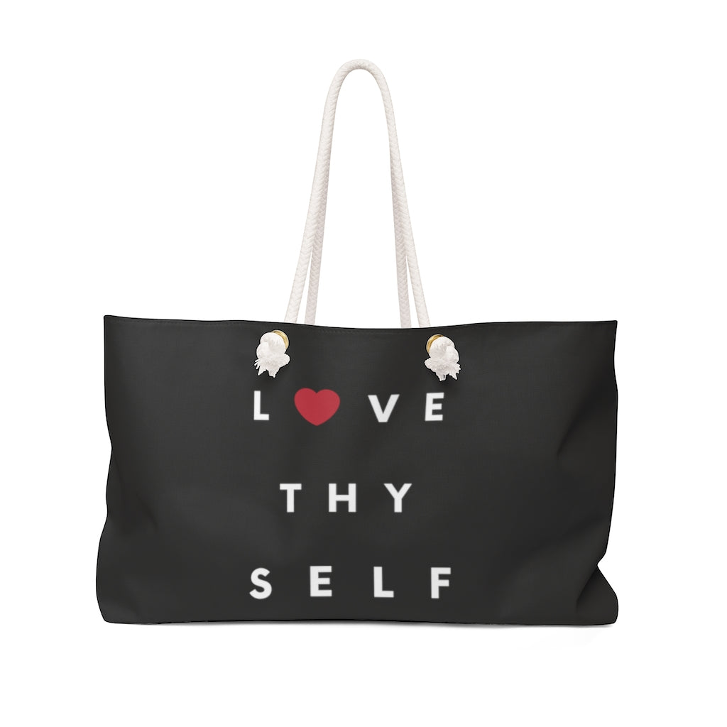 Limited Edition Love Thy Self Weekender Bag - Black Love Boutique
