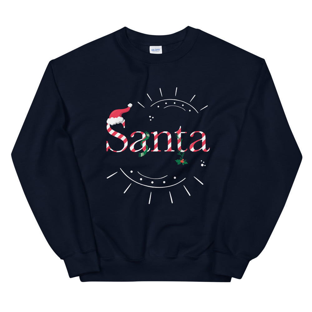 Limited Edition Santa Sweatshirt - Black Love Boutique