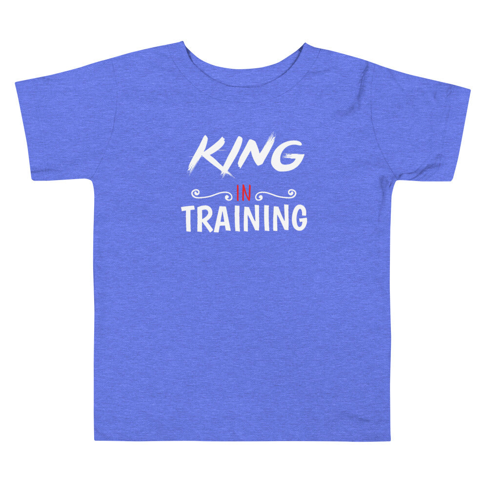 Limited Edition Toddler King In Training Toddler Tee - Black Love Boutique