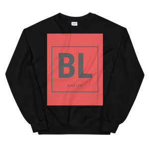 Limited Edition Black Love Solid Red Logo Sweatshirt - Black Love Boutique
