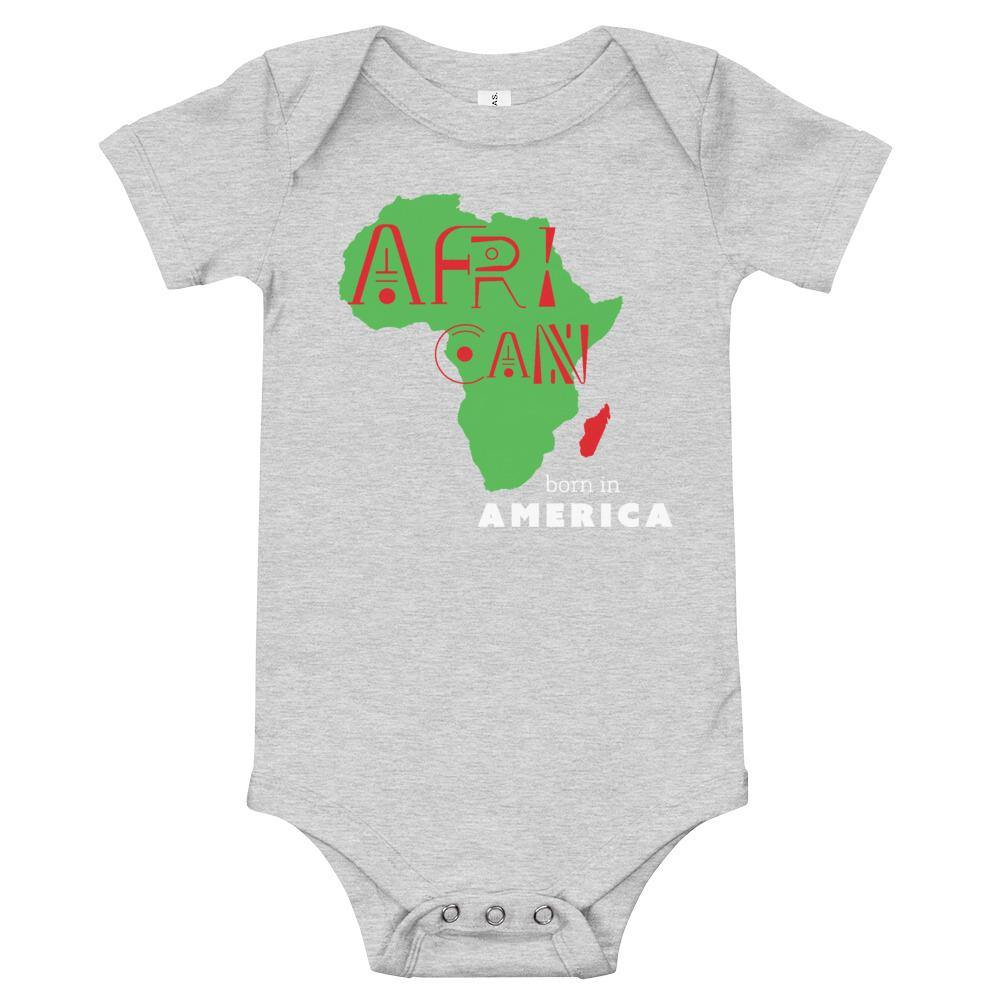 Limited Edition African Born In America Onesie - Black Love Boutique